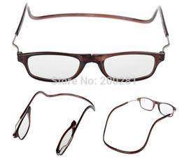 Wholesale Read Reader - Folding Reading Glasses Magnets Magnifying Reading Glasses Magnetic Front Connect Unisex Eyeglasses Hang Folding Quality Reader