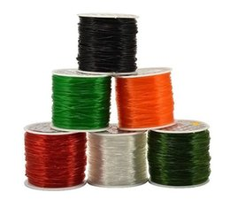 Wholesale Elastic String For Beads - Round Streched Elastic Cord Wire For Bead String Assorted Color 25-100 Meter Roll All Size DIY Jewelry Supplies