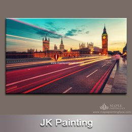 Wholesale Road Bridge - Modern wall art decoration painting of big Ben & Bridge road for housing decor from China wall decoration paintings manufactory