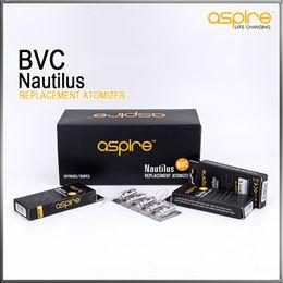 Bobine bvc per nautilus online-Aspire Nautilus 1.6ohm / 1.8ohml Atomizzatore BVC Testa di ricambio Bobine per Aspire Nautilus e Nautilus mini Serbatoio aria di regolazione regolabile Clearomizer