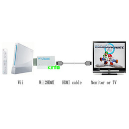 Wholesale 15 Monitor Hdmi - HDMI Converter Adapter 1080p To TV Monitor With 3.5mm Headphone Jack For Wii order<$15 no tracking