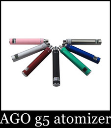 Wholesale Ego G5 Atomizer Clearomizer - 2015 Real Sale Ago G5 Atomizer Clearomizer Wind Proof for Ego Ecig Dry Herb for Vaporizer Pen Style E Cig for Cut Tobacco liquid herb Atb001