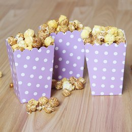 Wholesale Movie Candy Boxes - Mini Popcorn Boxes Polka Dot Candy Buffet Favor Party Paper Bags Movie Home Baby Shower Supplies Wedding Decor