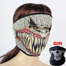 Wholesale Pink Full Face Helmets - Designed Cool Outdoor Full Skull Face Mask Ghost Masks CS Game Cycling Motorcycle Caps Masks Helmet Sporting