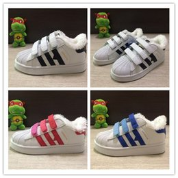 Wholesale Girls Cut Out Tops - with cotton top Quality Superstar Head Sneakers Children casual shoes for kids boys sneakers and girls casual shoes size 24-35