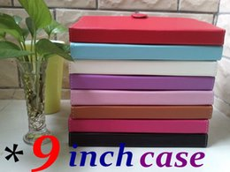 Wholesale Tablet Cases Covers 9inch - CH High Quality 9 inch PU Leather Folio Case Cover Skin Stand For 9inch Android Tablet PC MID epad A13 A23 A33 TD14