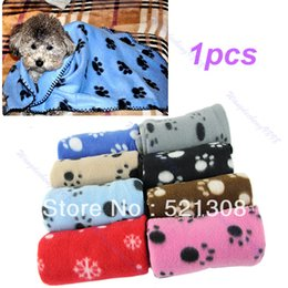 Wholesale Dog Couture - Free Shipping Hot Sell Lovely Design Pet Dog Cat Paw Prints Fleece Couture Blanket Mat New