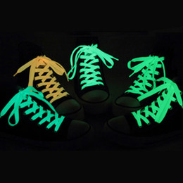 Wholesale Bright Hotels - Bright Color Luminous Sneakers Shoelaces Glow in the dark Fluorescent Luminous Shoe Laces Bootlaces Strings Reflective Safety Laces SK450