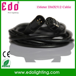Wholesale Signal Meters For Cable - Wholesale-Free shipping 1 Meters length 3-pin signal connection DMX wire for stage light, stage light DMX512 cable