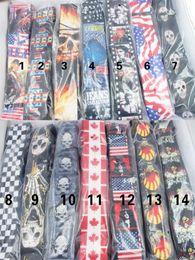 Wholesale Electric Guitar Flag - 2016 Higher Quality Cotton Adjustable Buckle Electric Guitar strap Acoustic Straps American Flag Print Mix Colors Wholesale