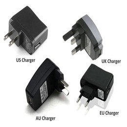 Wholesale Ego T Charger Wall Adapter - Wall Charger for USB Charger for Electronic Cigarette E-cigarette E-cig Ego t Ego Adapter Kits US UK EU AU Charger Great Quality DHL Free