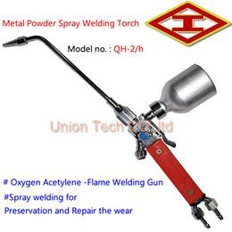 Wholesale Gun Powder Wholesalers - 1 set High Quality Flame Welding Painting Tools ,QH-2 h Metal Powder Spray Welding Torch,Oxygen Acetylene Flame Welding Gun