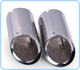 Wholesale Audi Pipe - High quality stainless steel 2pcs car silencer mufflers end pipes for Audi Q5,Q3 2010-2016