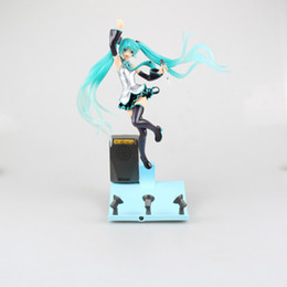 Wholesale Hatsune Doll - Free Shipping Hatsune Miku Stage Miku Action Figure Light & Music Stage Miku Doll PVC ACGN figure Garage Kit Toy Brinquedos Anime 25CM