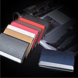 De La Carte Credit Titulaire Grande Capacite Unisexe Visite Porte Cles Metal Portefeuille En Cuir Acier Solide Boite 200