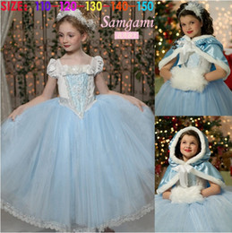 Wholesale Baby Princess Cinderella - Girls Fashion Cinderella Dress Baby Halloween Cosplay Dresses Children clothes Baby Princess dress Girl Party Dress Skirts Clothing CN G006