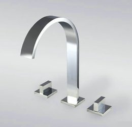Wholesale Nice Bathroom Sets - Nice Newly 3Pcs Set Bathroom Basin Kitchen Sink Mixer Tap Faucet AD-1234