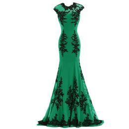 Élégantes Longues Robes De Soirée Sexy Emeraude Vert En Mousseline De Soie Dos Ouvert Appliques Parti Piste Pas Cher Tapis Rouge Célébrités Robes ? partir de fabricateur
