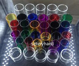 Pyrex Colorful Sostituzione tubi in vetro pyrex per Aspire Atlantis 2 EVO 2ML 4ML Triton 2 mini nautilus x 2 serbatoio Cleito 120 da aspira atlantis triton tank fornitori