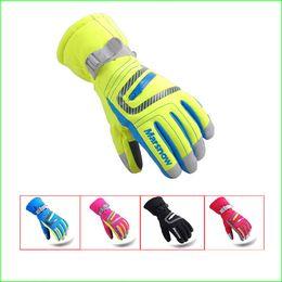 SG19K зимние детские водонепроницаемый снег перчатки открытый детские лыжные перчатки Сноуборд перчатки для детей от Поставщики кожаное освещение