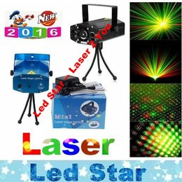 Wholesale Sky Laser Lighting - Portable Laser Stage Lights (Red + Green Color) Multi All Sky Star Lighting Mini DJ Laser For Christmas Party Home Wedding Club Projector