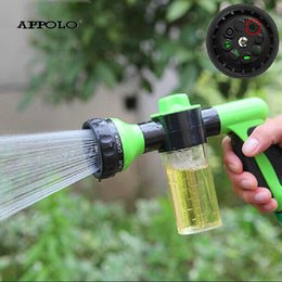 Wholesale Portable Water Sprayer - Wholesale- Best Cleaning Gun Car Portable High Pressure Sprayer Mist Water Car Washer Head Shower Clean Cone Auto Lavador De Carro Pistola