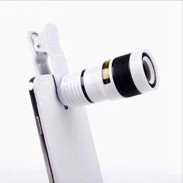 2019 sumsung new phone 2017 Novo Universal Clipe Phone Telescope 8X Zoom Móvel lente teleobjetiva Smartphone externa lente da câmera para o iPhone Sumsung Huawei sumsung new phone barato