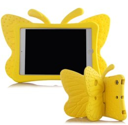 Wholesale Design Cases For Ipad - Free Shipping Wholesale The Butterfly Design Shockproof Kids Handle EVA Foam Case Cover For Apple for iPad 2 3 4 10pcs lot