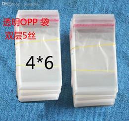 Wholesale Self Sealing Pe Bags - Wholesale-Super 500Pcs Zipped Top Bag 5C Self-adhensive Bag 4X6cm Mini Clear Opp Self Seal Bag Plastic PE Jewelry Packaging Bag