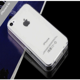 Wholesale Wholesale Iphone 4s Backs Colors - Hot Selling!!! Back Cover for iPhone 4 4S Transparent TPU gel Crystal Clear 0.5mm Ultra thin soft silicon Case 7 Colors viviangirl