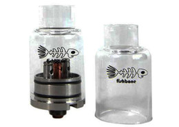 Wholesale Velocity Mini Rda Rebuildable Dripping Atomizer - Fishbone RDA Atomizer Stainless steel and Glass RDA Clear Tank Fish Bone Rebuildable Dripping Atomizer Fit 510 Mods VS velocity mini