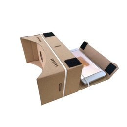 Iphone de los vidrios 3d de la cartulina online-2015 Google Cardboard VR Realidad Virtual Gafas 3D Storm Mirror DIY Kit y Head Mount correa para iphone 6 6 más 5 5s 4 samsung s6 edge