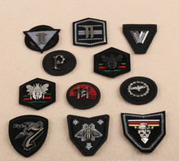 Wholesale Iron Applique Letters - 10pcs metal letter embroidered patches for sewing Bag clothing patches iron on sewing accessories applique