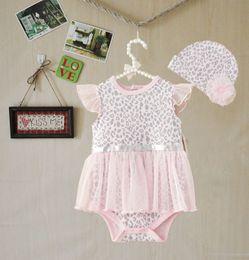 Wholesale newborn wears - Fashion Baby One Piece Romper Jumpsuit Girls leopard Climb Clothes infant wear Newborn Romper Tutu Dress Sets