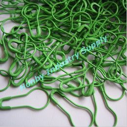 Wholesale Safety Pins Wholesale Free Shipping - Free Shipping Green Color 22 mm Pear Shaped Safety Pins For Hanging Tags 2000 pcs per pack