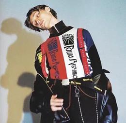 Wholesale Thin Scarf Men - Gosha Rubchinskiy Scarf Panels Oversized Sweater Russina Famous Brand Fashion Letter Print Long Sleeve Swearter Free Shipping