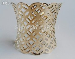 Wholesale Wholesale Western Cuffs Bracelets - Wholesale-Western Punk Style Bangles,Cuff with geometry hollow out metals bracelet, Fashion Jewelry in Golden Tone