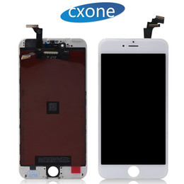 Wholesale Wholesale Touch Screen Frame - Grade AAA Quality For iPhone 6 6G Plus Lcd Replacement Touch Screen with frame Display Digitizer Full Assembly White Black Free Shipping