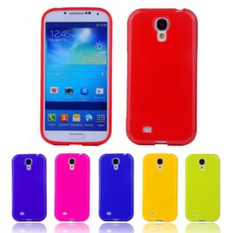 Wholesale I9195 Cell - Wholesale-Candy Silicone TPU Gel Soft Case For SAMSUNG Galaxy S4 Mini i9190 i9195 Rubber Material Back Cover Shockproof Cell Phone Bags