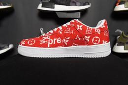 Wholesale adult skate shoes - Men Athletic Vlone X Ultra Classics 1 Low Skate Shoes,Adult Brand Casual Sneakers Black Orange 36-45