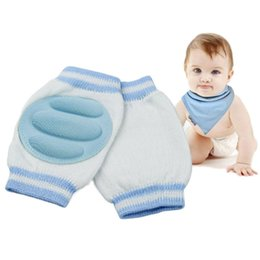 Wholesale Infant Knee Pads Crawling - 2 Pair 6 Color baby Kid Safety Crawling Elbow Cushion Infant Toddlers Knee Pad Protector leg warmers kneecap for Newborn