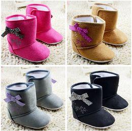 Wholesale Cheap Baby High Top Shoes - Multicolor baby snow shoes!bowknot toddler shoes,high top kids snow boots,0-18 M unisex walking shoes,cheap children shoes!9pairs 18pcs.C