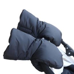Wholesale Hand Muffs - 1 Pair Winter Pram Stroller Ski Gloves Accessory Coupler Hand Cart Muff Warm Fur Fleece Gloves Pushchair Hand Muff kids Buggy Clutch