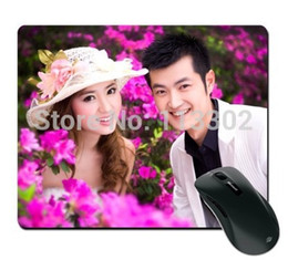 Wholesale Wholesale Heating Pads - Wholesale-2015 40 pcs lot DIY Blank Sublimation mouse pads. print and heat press Mouse mats. wholesale free shipping 20cmx25cmx2mm