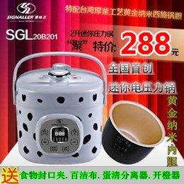 Wholesale Pressure Cooker Pots - Wholesale-Sgl-20b201 2l mini electric pressure cooker electric pressure cooker pot