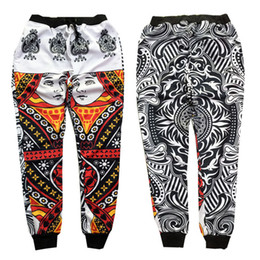 Wholesale-New fashion 2015 men's hip hop jogger pants KTZ bandana poker graphic print stylish sport jogging bottoms skinny sweatpants от