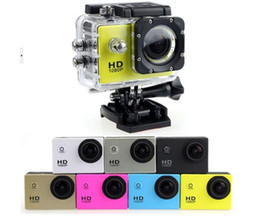 Wholesale Camera Action - Free send DHL- 2017 new SJ4000 freestyle 2inch LCD 1080P Full action camera 30 meters waterproof DV camera sports helmet SJcam DVR00
