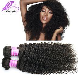 Wholesale Curly Kinky Hair Beautiful - 7A preuvian kinky curly virgin hair human hair weaves preuvian hair bundle human hair weaves beautiful atars remy human hair kinky curly