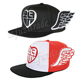 Wholesale Promotional Snapback Hats - Wholesale-Fashion Baseball Cap Promotional New Women Girls Color Wings Hat Caps Snapback Baseball Cap 2Color -37