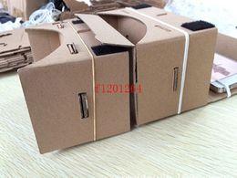 2019 iphone de los vidrios 3d de la cartulina 300 unids / lote FreeShipping DIY Cartón de Google Teléfono Móvil Gafas 3D de Realidad Virtual para IPHONE 6s 5 Samsung s6 note 4 Nexus 6 Xiaomi rebajas iphone de los vidrios 3d de la cartulina